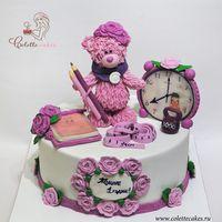 Торт Мишка Тедди для девочки / Teddy bear cake for a girl