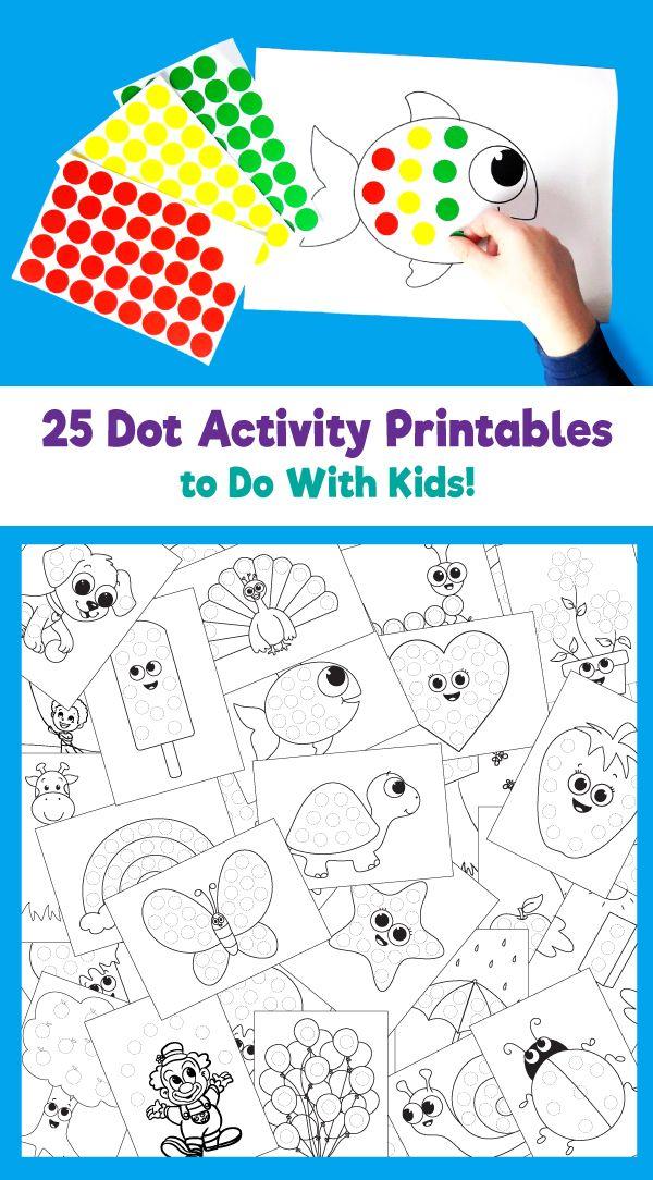 25 Dot Activity Printables Fun Activities For Preschoolers Kindergarten Fun Preschool Fun Fun activity sheets for preschoolers