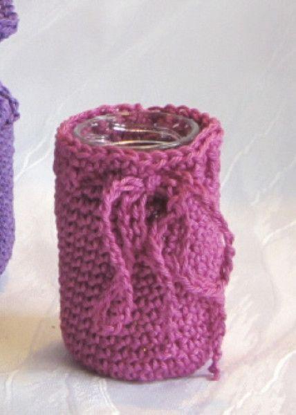 Vasen - Vase aus Baumwolle handgehäkelt - ein Designerstück von mARgriTs-Atelier bei DaWanda