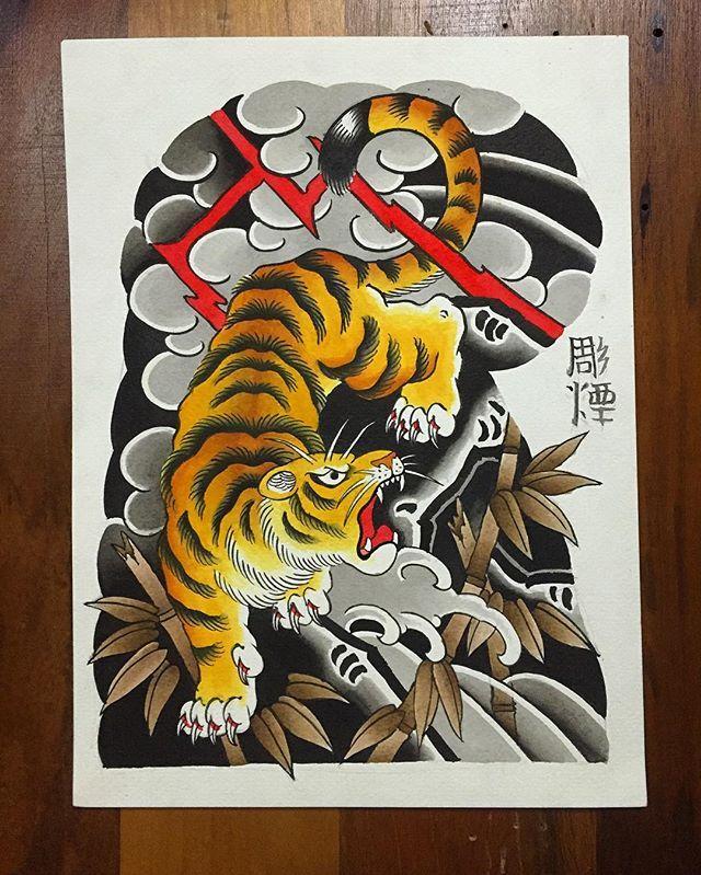 Disponível para tatuar !!! #japanesetattoo #tora #tiger #