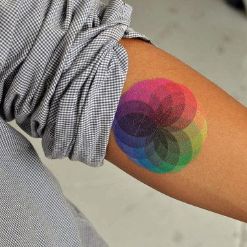actually thinking about getting a color wheel tattoo now.