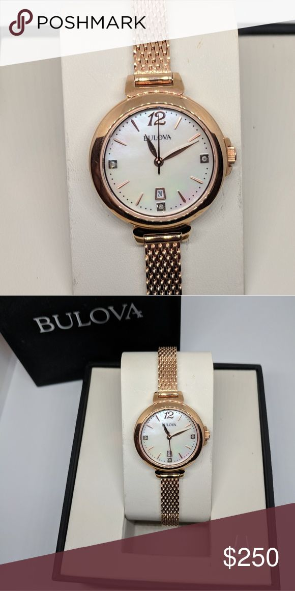 Bulova authentic Womens watch new Rose gold Bulova Bulova Accessories Watches