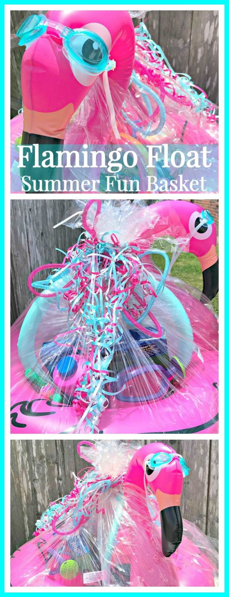 Flamingo float summer basket golf gift baskets golf