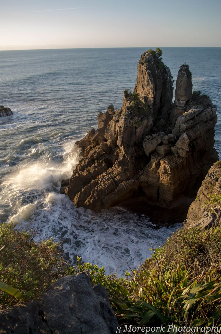Sea stack, Dolomite Point, West Coast, South Island (Also known as Pancake Rocks area.)