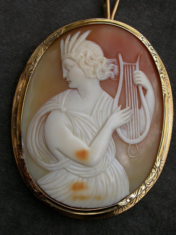 Vintage French 18k Gold Shell Cameo Amp Appraised At 1 190