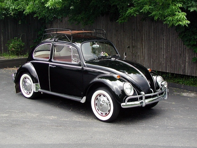1963 VW Beetle Sunroof Sedan Black hole sun