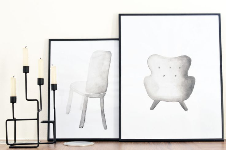 Monochromatic painting of armchair