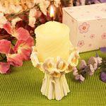 """Flora"" Pillar Candle - WrapWithUs"