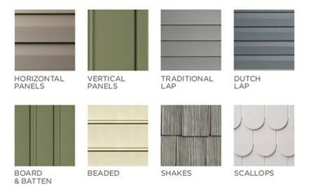 Vinyl Siding Types and Styles. Styles may include texture, color, length, thickness and of course price.  all-about-siding.com