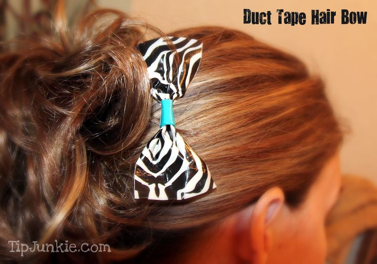 Who knew you could make duct tape hair bows for cheerleading?