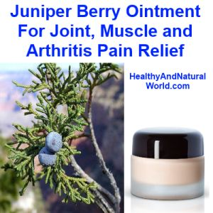 Juniper Berry Ointment for Joint, muscle and Arthritis Pain Relief