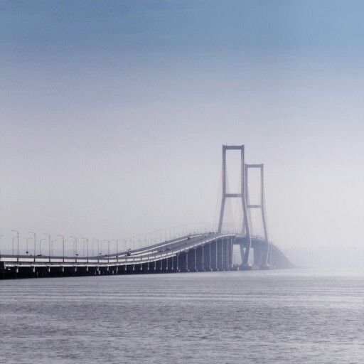 Suramadu Bridge,  the longest bridge in Indonesia with 5,438 metres length. #Surabaya