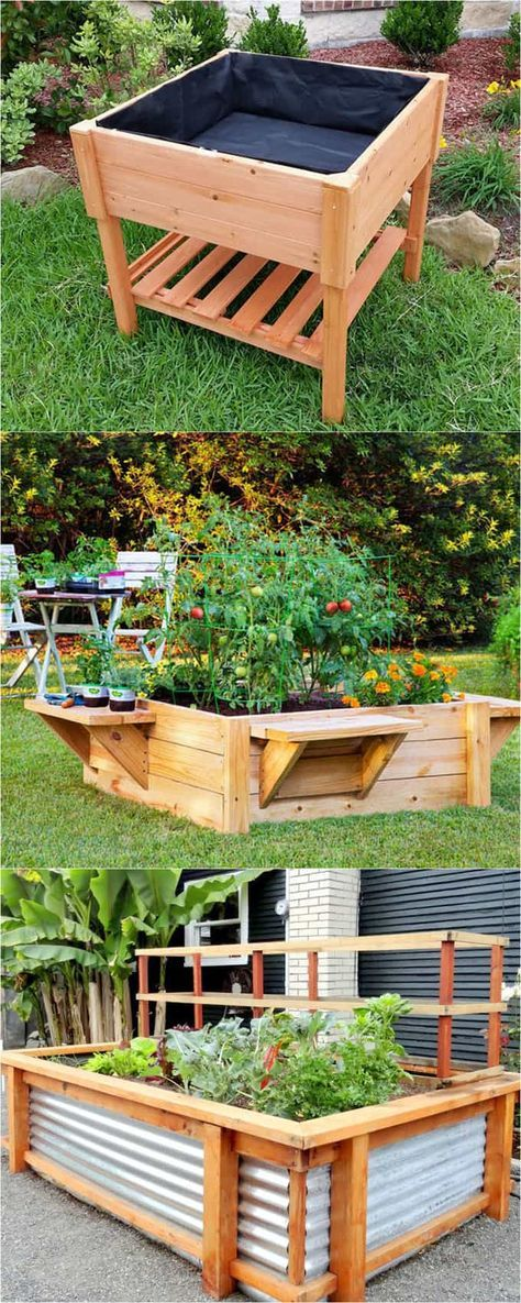 28 most amazing raised bed gardens, with different materials, heights, and many creative variations. Great tutorials and ideas on how to build raised beds !