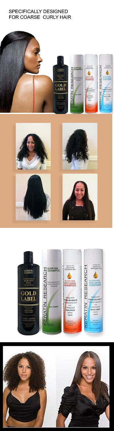 Relaxers and Straightening Prod: Gold Label Powerful Brazilian Keratin Blowout Hair Complex Treatment Large Kit BUY IT NOW ONLY: $75.0
