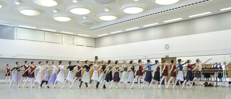 Dancers of The Royal Ballet and The Royal Ballet School in rehearsal for Giselle, The Royal Ballet © 2016 ROH. Photo by Andrej Uspenski
