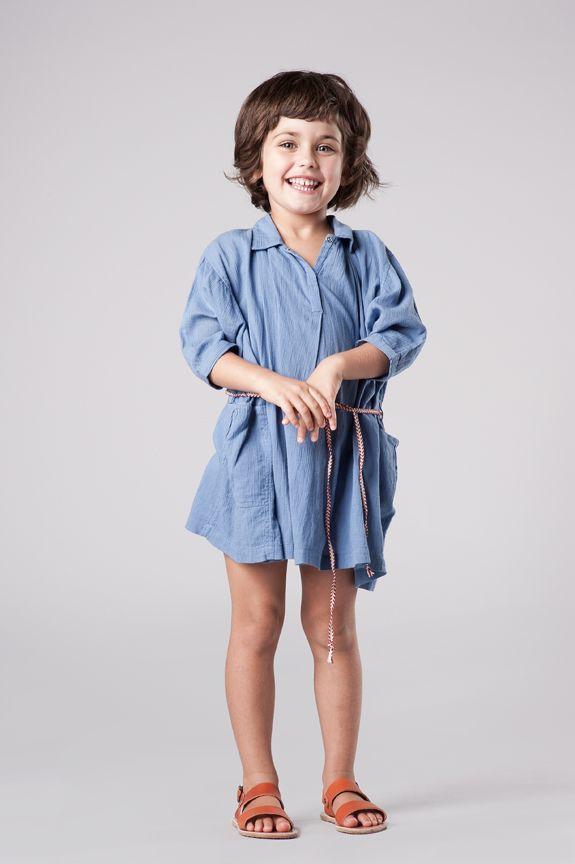 Blue shirt dress - Caramel Baby & Child