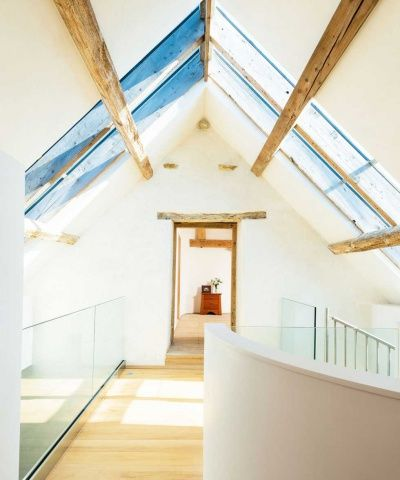 The landing with rooflights overhead