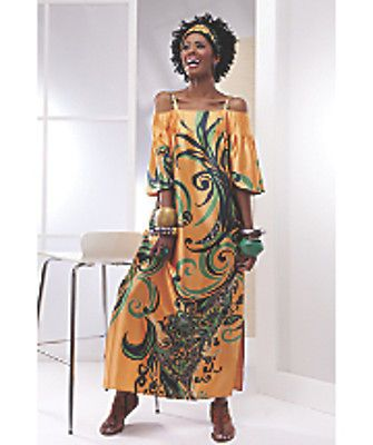 Yellow-Orange-Multi-Tamar-Caftan-from-Ashro-size-L-XL-Bonus-Scarf