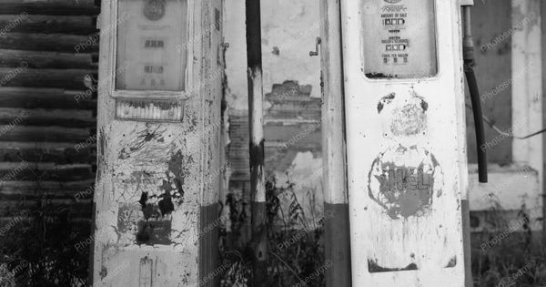 Shell Gas Pump Abandoned Gas Station 8x10 Reprint Of Old Photo   Gas Station B & W Photography   Pinterest   Old photos, Vintage and Pump