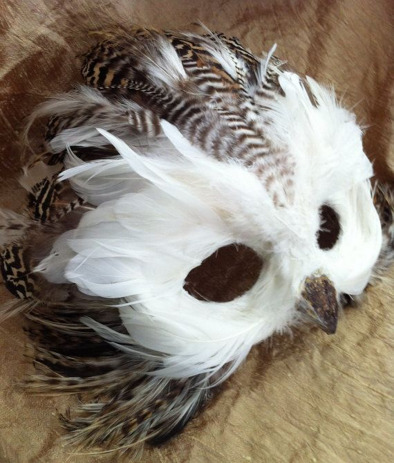 Listing is for a child snow owl. This Owl mask was a custom order I created for a customer. A lot of my custom creation photos never get a chance to be displayed on my shop, so I created this listing to offer my future customers examples of the specialty animal masks I can create. With a photo or an idea of what youd you like, I can create an art piece for decor, halloween mask, or party mask for you. This item is sold. Please convo me for a quote on a custom project! Enjoy a piece of…
