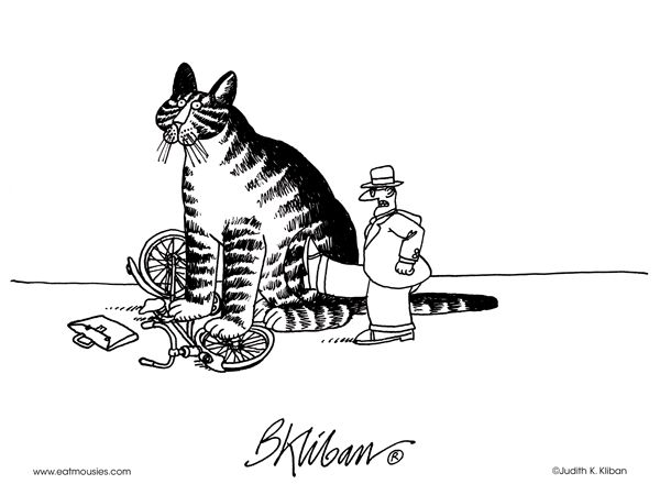 Kliban's Cats. Nope...not moving...I like sitting here...