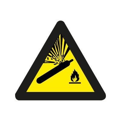 Gass under trykk symbol - Fareskilt