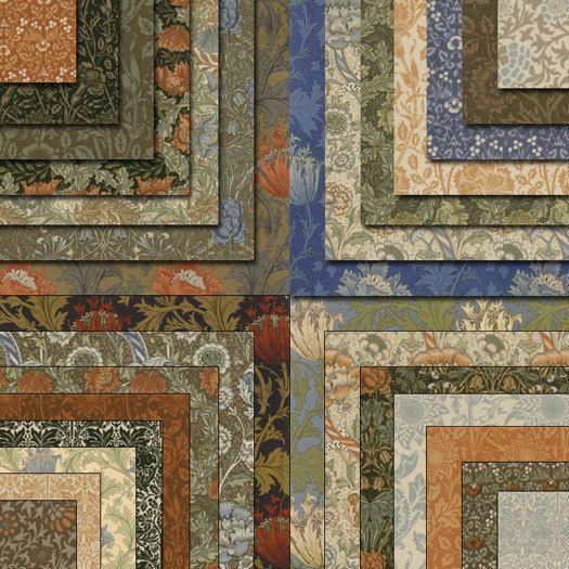 William Morris Last 3 Charm Packs Moda Quilt Fabric