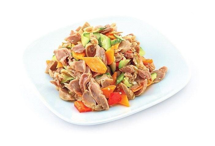 Вкуснейшие рецепты блюд из куриных желудков Куриные желудки – полезный и низкокалорийный продукт. В них содержится большое количество фолиевой кислоты.Рецепт №1. Салат из жареных куриных желуд...