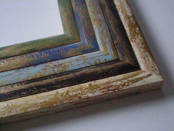 Picture Frame A2 Poster Frame Photo Frame Rustic Wood Frame With Gold Art Frame Solidwoodshop Choos Barn Wood Frames Rustic Frames Frame Wall Decor