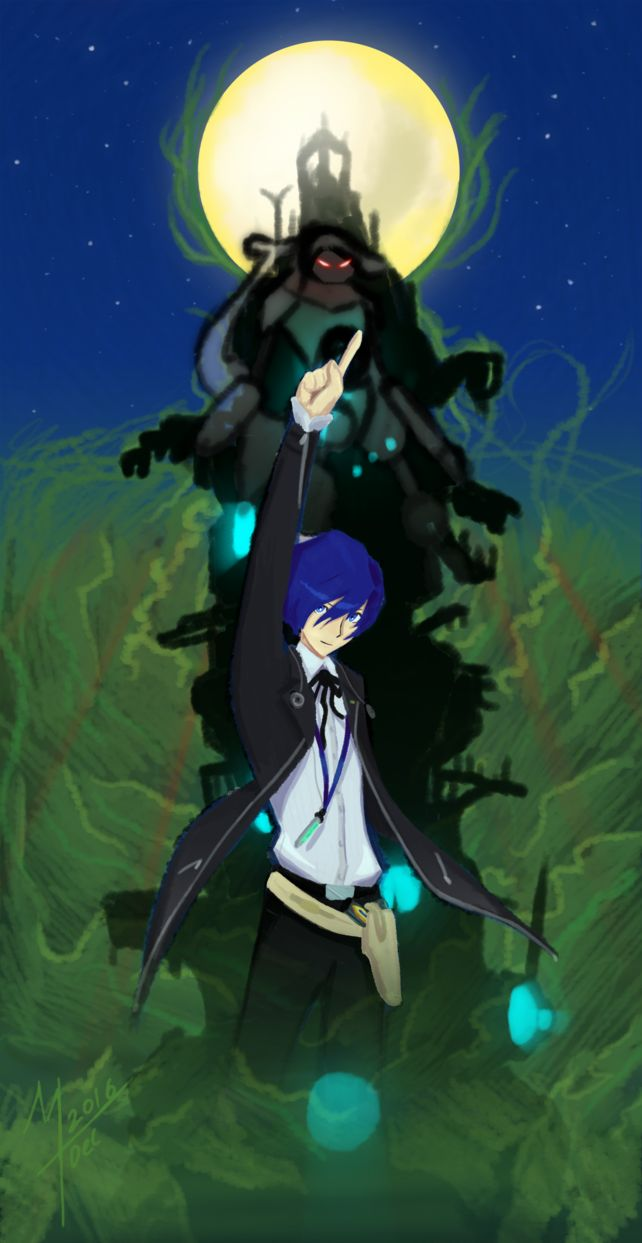 Check out my animation based on Persona 3 here - youtu.be/4WLnrQgAjLQ Minato Arisato from Persona 3. Drawn with Photoshop CS2 and a Wacom Tablet.