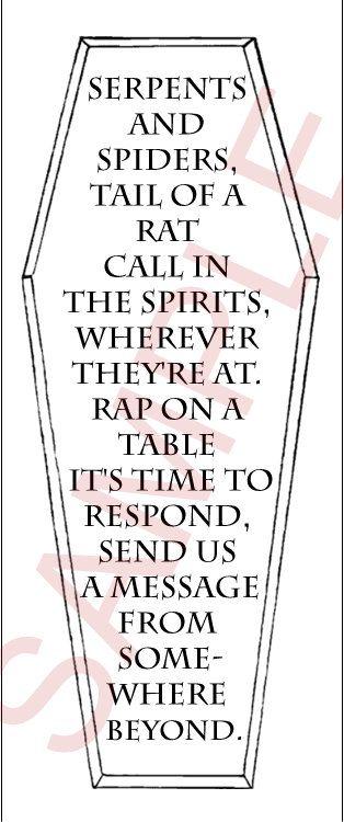 Ouija Inspired Spirit Board Invites Digital Printable
