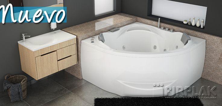 #Hidromasaje Bali Plus, su diseño ergonómico y tamaño lo hace ideal para espacios pequeños. www.firplak.com