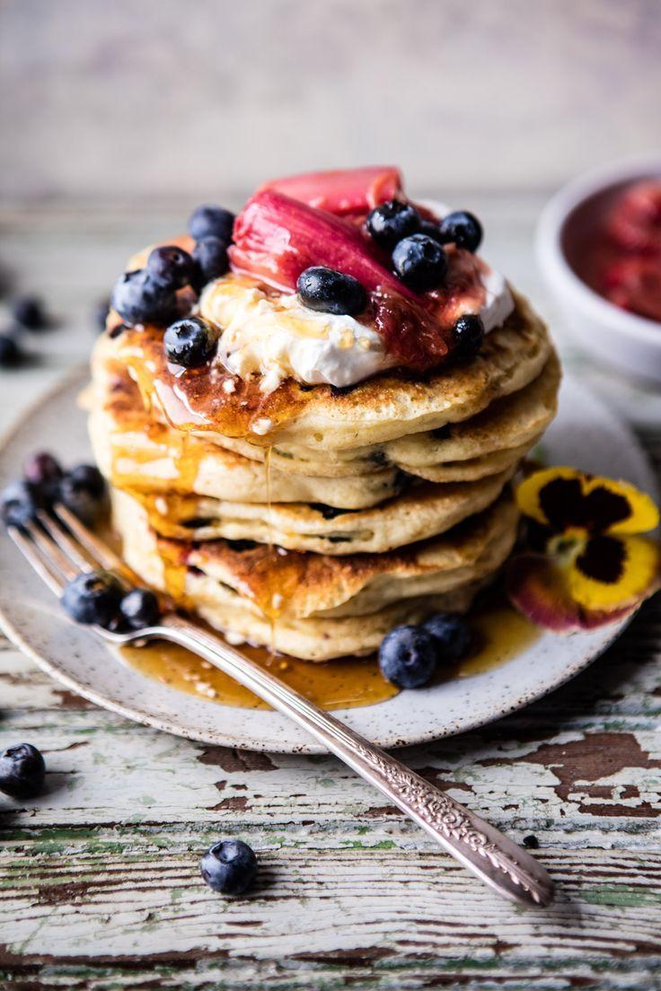 Blueberry Almond Pancakes | http://halfbakedharvest.com @Half Baked Harvest