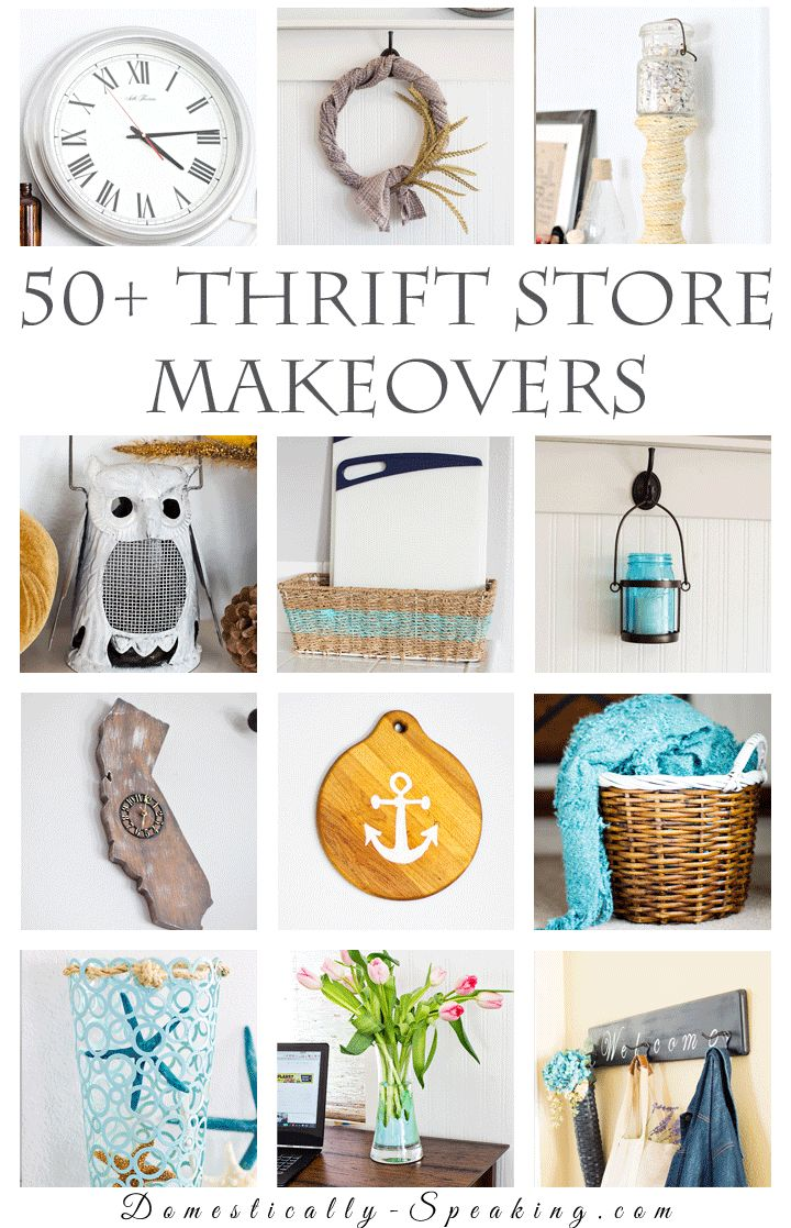 50+ Thrift Store Makeovers lots of great ideas on how to transform thrift store pieces
