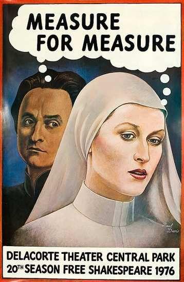 DP Vintage Posters - Measure for Measure New York Shakespeare Festival Poster / Meryl Streep, John Cazale