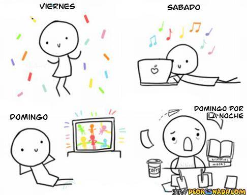 Los deberes y el finde #learning #spanish #kids