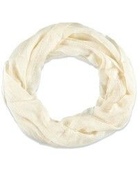 Loose Cream colored infinity scarf from Forever 21
