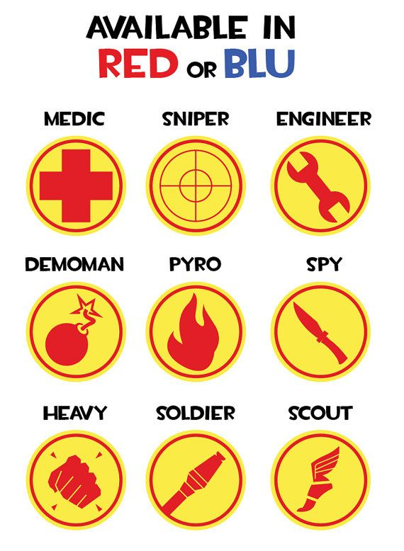 Team Fortress 2 Badges in blue (My son would think you are the greatest person in the world!)