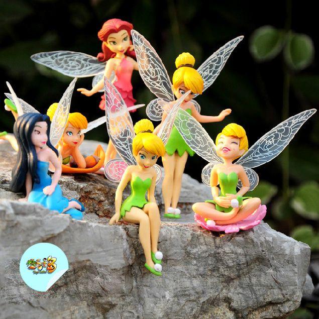 6 adet/set güzel periler iblis prenses bebek bebek mobilya makaleler çocuk hediye(China (Mainland))