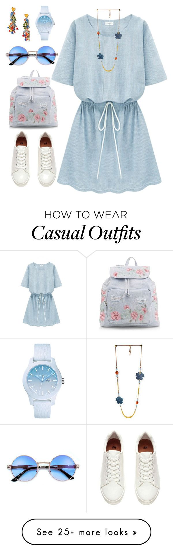 """Untitled #282"" by siberiagirl on Polyvore featuring Tory Burch, New Look and Lacoste"