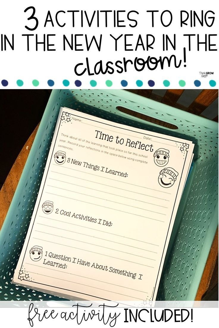 Simple Activities To Ring In The New Year In Your Classroom New