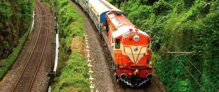 http://www.indianrailways.co.in You can find interesting information about indian railways history, infrastructure and how to make online reservation.