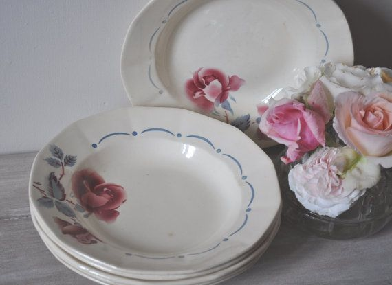 Vintage French Tableware- Digoin Sarreguemines - Set of 2 Bowls (6 available)
