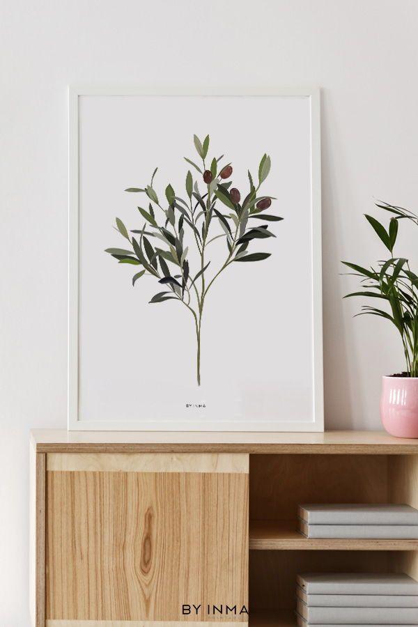 Boho Home Decor With Botanical Prints Olive Branch Printable Wall