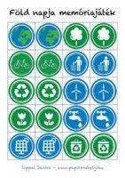 Earth Day paper memory Föld Napja memóriajáték