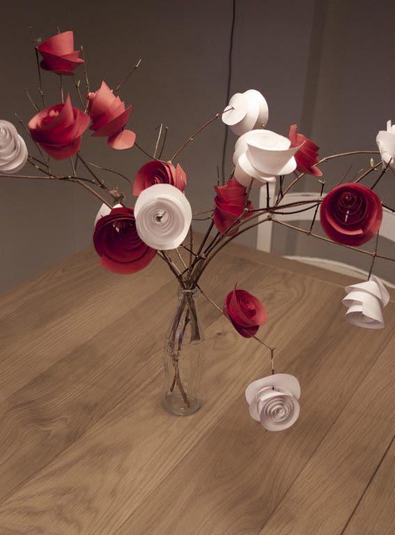 #Tutorial: #centrotavola o #bouquet con #rose di #carta. #d.i.y. #paper #rose #craft
