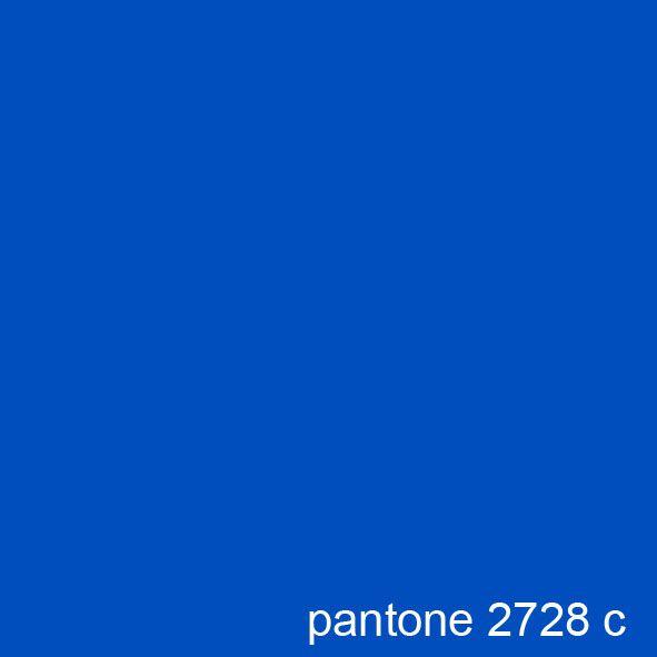 Cobalt Blue Paint Color: Pantone 2728 C - Cobalt Blue