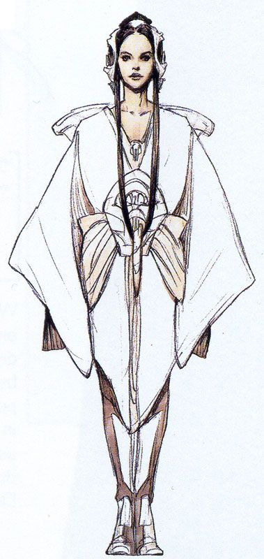 Padme' Amidala Star Wars: Episode II - Attack of the Clones. Flightsuit. http://www.rebelshaven.com/SWFFAQ/images/pilot/pilotconcept2.jpg
