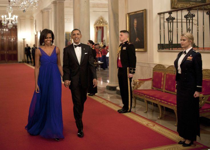 February 2012 in Jason Wu: Presidents Obama, U.S. Presidents, Michelle Obama, Presidents Barack, Royals Blue Gowns, Michele Obama, First Lady, White House, Barack Obama