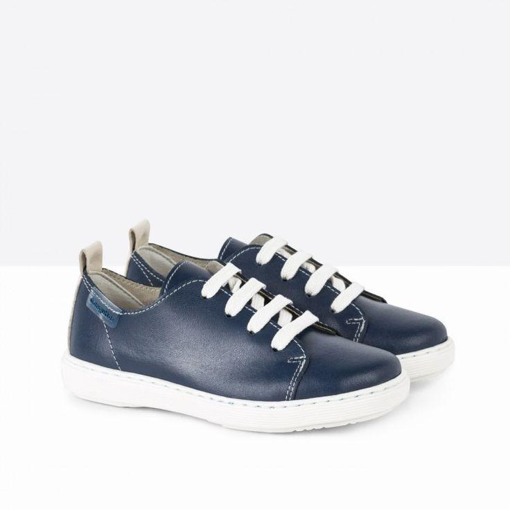Zapatos de Niño Piel Azul - Calzado - Niño - Conguitos #conguitos #niño #shoes #collection #ss18 #zapatos #piel #azul